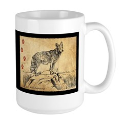 Coyote Drawing Large Mug
