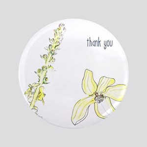 "Thank you Agrimony blooms 3.5"" Button"