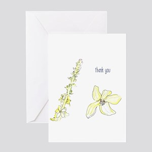 Thank you Agrimony blooms Greeting Cards