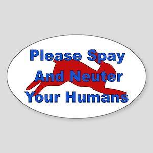 Overpopulation Bombs Oval Sticker