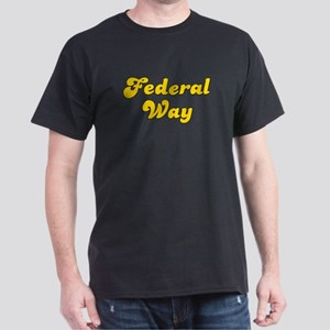 Retro Federal Way (Gold) Dark T-Shirt