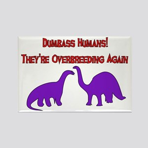 Overbreeding Dinosaurs Rectangle Magnet