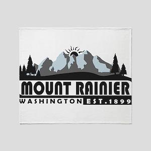 Mount Rainier - Washington Throw Blanket