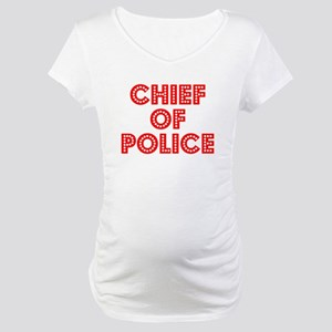 Retro Chief of Po.. (Red) Maternity T-Shirt