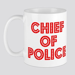 Retro Chief of Po.. (Red) Mug