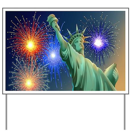 Liberty Fireworks Yard Sign