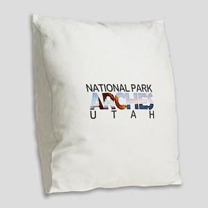 Arches - Utah Burlap Throw Pillow