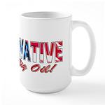 Big Oil Evil Conservative Large Mug