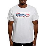 Big Oil Evil Conservative Ash Grey T-Shirt