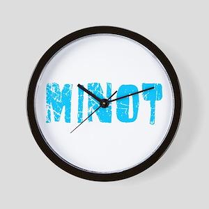 Minot Faded (Blue) Wall Clock
