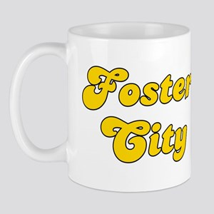 Retro Foster City (Gold) Mug