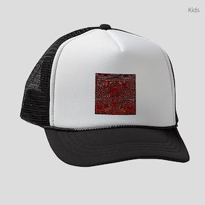 bohemian gothic red rhinestone Kids Trucker hat