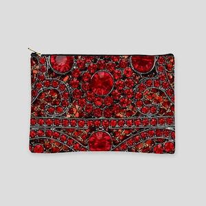 bohemian gothic red rhinestone Makeup Bag