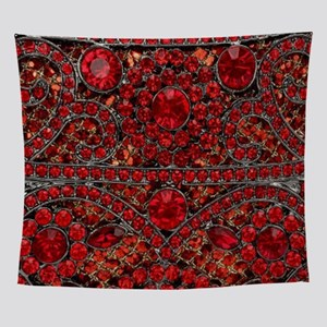 bohemian gothic red rhinestone Wall Tapestry