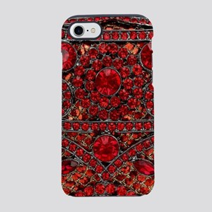 bohemian gothic red rhinesto iPhone 8/7 Tough Case