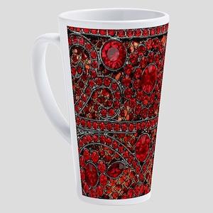 bohemian gothic red rhinestone 17 oz Latte Mug