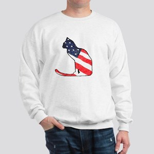 Patriotic Cat Sweatshirt