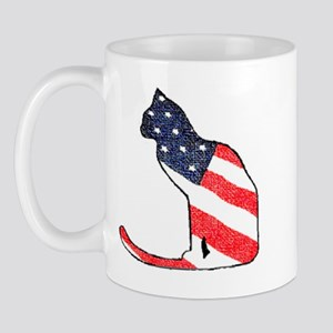 Patriotic Cat Mug