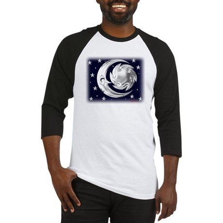 Silver Moon & Stars Baseball Jersey