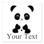 Personalizable Panda Bear Square Car Magnet 3