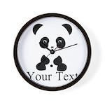 Personalizable Panda Bear Wall Clock