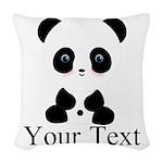 Personalizable Panda Bear Woven Throw Pillow