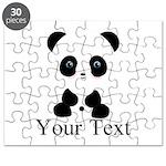 Personalizable Panda Bear Puzzle