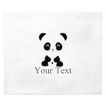 Personalizable Panda Bear King Duvet