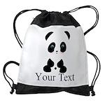 Personalizable Panda Bear Drawstring Bag
