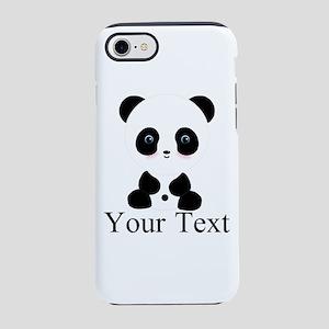 Personalizable Panda Bear iPhone 8/7 Tough Case