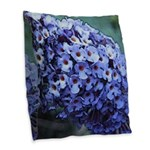 Butterfly Bush Burlap Throw Pillow