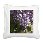 Spring Wisteria Square Canvas Pillow