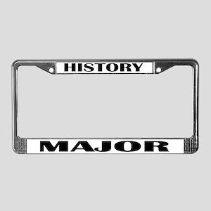 History Major License Plate Frame
