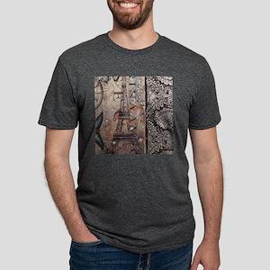 paris eiffel tower butterfly vintage T-Shirt