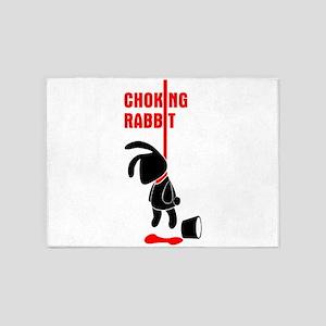 Choking Rabbit Bk 5'x7'Area Rug