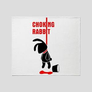 Choking Rabbit Bk Throw Blanket