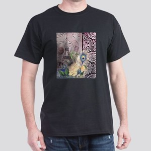 peacock paris eiffel tower T-Shirt