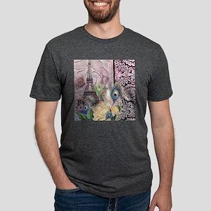 peacock paris eiffel tower T-Shirt