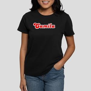 Retro Camila (Red) Women's Dark T-Shirt