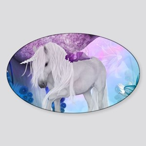 Beautiful unicorn with cute fairy in a fantasy wor