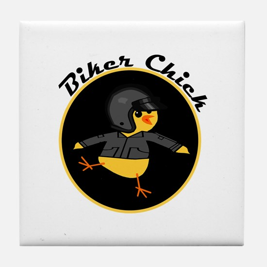 Biker Chick Tile Coaster