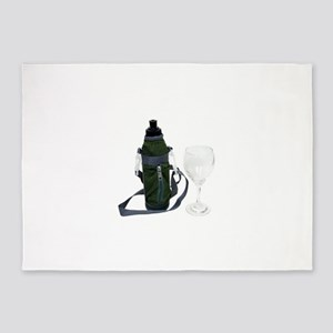 WaterBottleWineGlass050209 5'x7'Area Rug