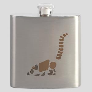 Cute Coati Mundi Cartoon Flask
