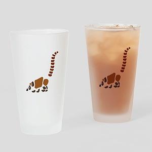 Cute Coati Mundi Cartoon Drinking Glass