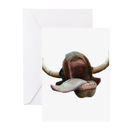Cow Tongue Greeting Cards (Pk of 10)