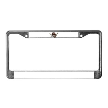 Cow Tongue License Plate Frame