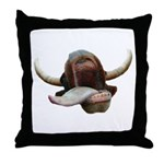 Cow Tongue Throw Pillow