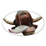 Cow Tongue Oval Sticker