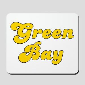 Retro Green Bay (Gold) Mousepad