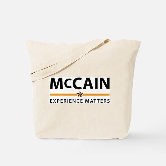 McCain: Experience Matters Tote Bag